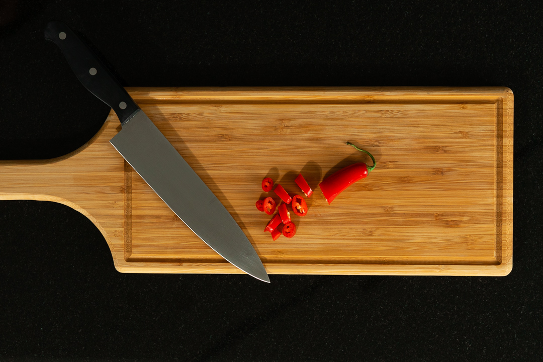 cutting chilli laksa recipe process