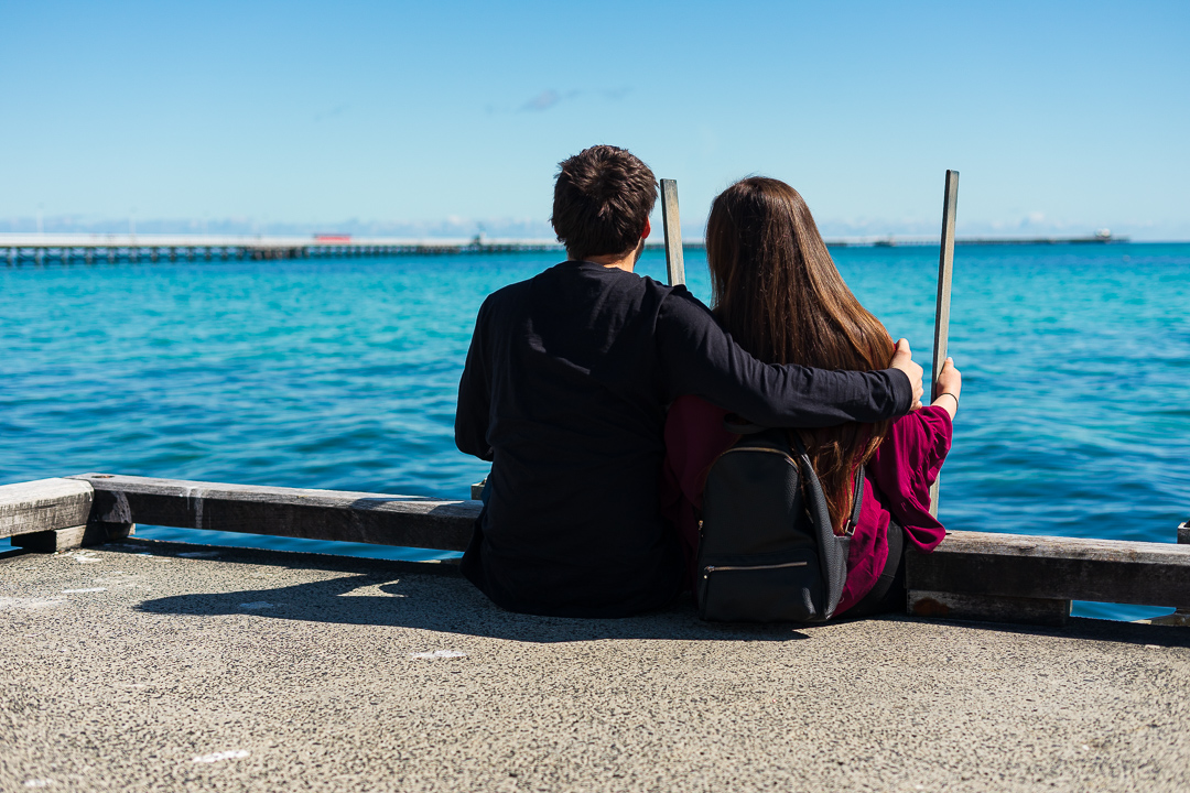busselton jetty couple photo