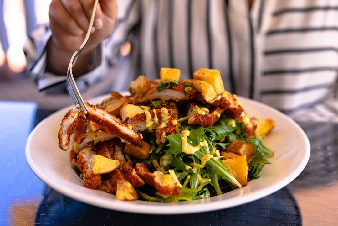 elixir cafe warm chicken salad